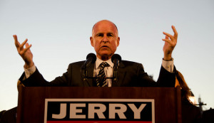 Jerry Brown Oakland rally