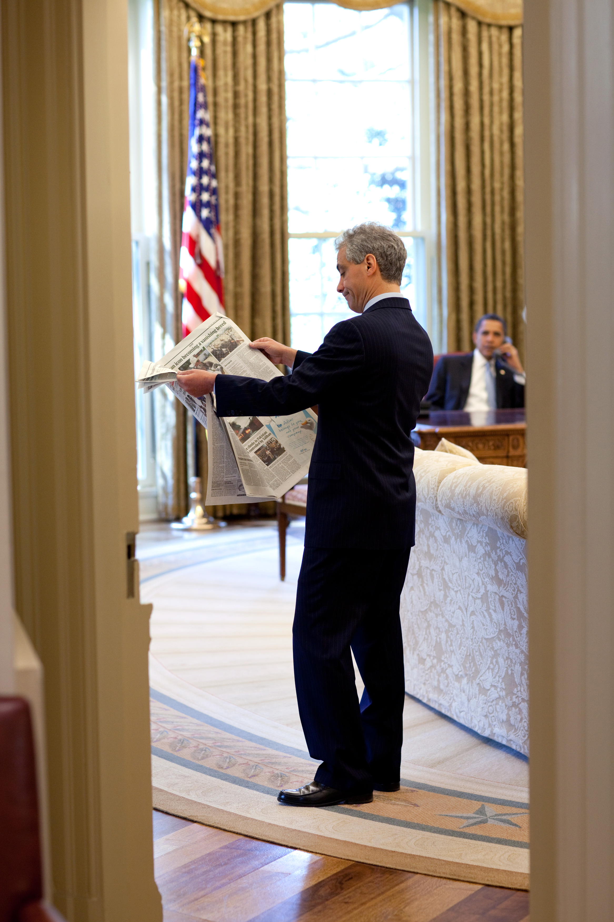 Rahm Emanuel Oval Office Barack Obama