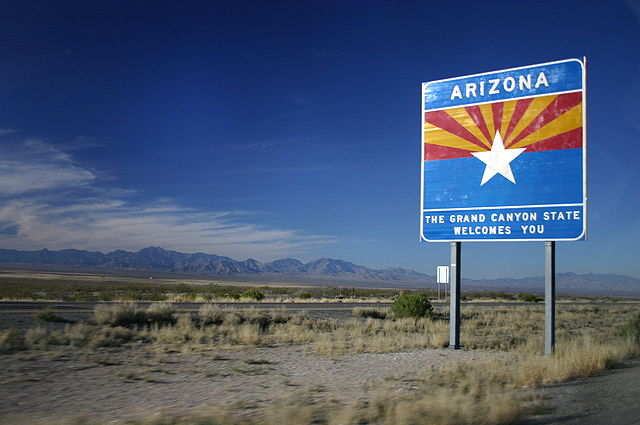 Entering Arizona sign