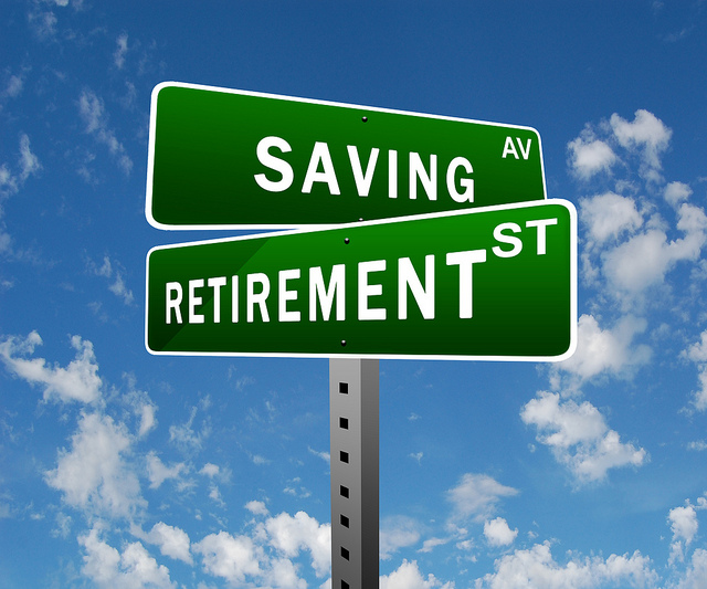 Retirement Saving street signs