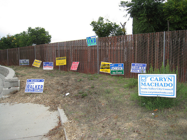 Someone Is Stealing The Campaign Signs Of CalPERS Board Candidates