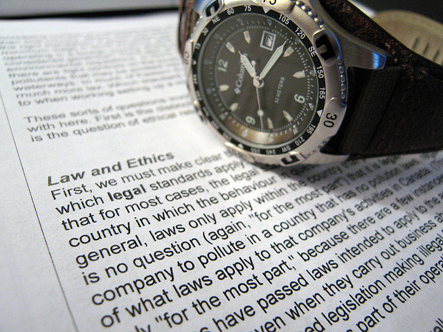 "Watch and ""Law and Ethics"" paper"