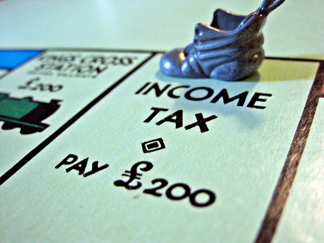 Monopoly Board income tax